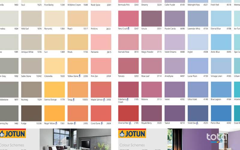 Bảng màu vô cũng đa dạng của sơn Jotun