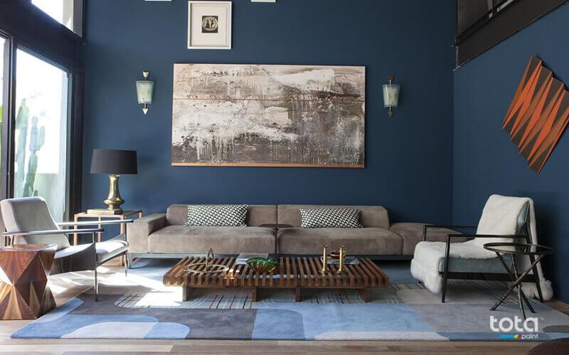 Màu xanh dương là màu sơn đẹp nhất trong việc tạo ra không gian sang trọng, đẳng cấp