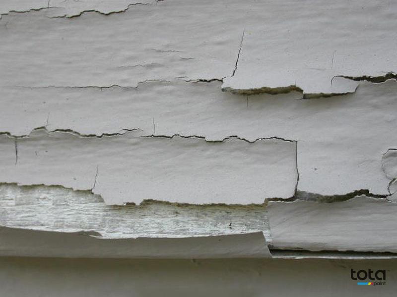 sơn tường nhà bị bong tróc