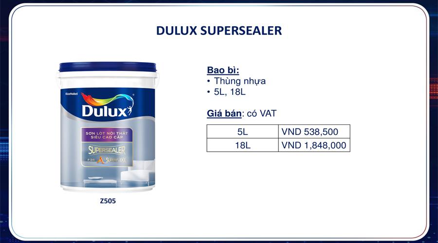 Sơn lót nội thất siêu cao cấp Dulux SuperSealer