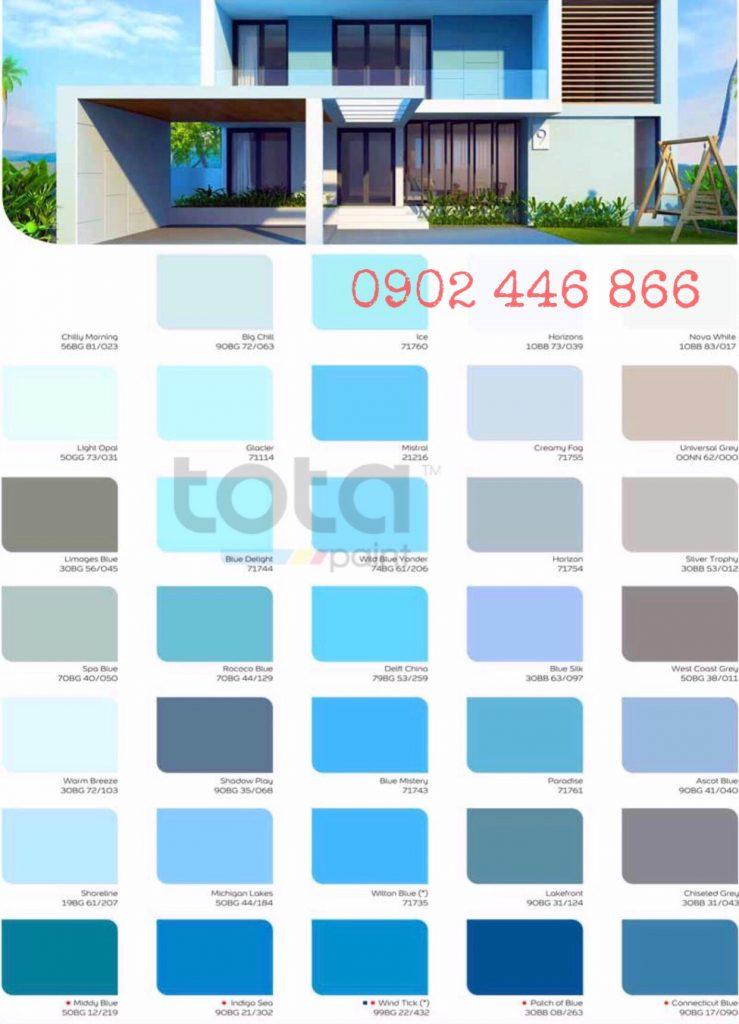 Thiên nhiên an hòa: Sắc xanh mát rượi của màu trời cho ngôi nhà của bạn vẻ tươi mới hoàn hảo dù bạn đang ở giữa nhịp sống hiện đại của thành phố hay sự yên bình của thôn quê