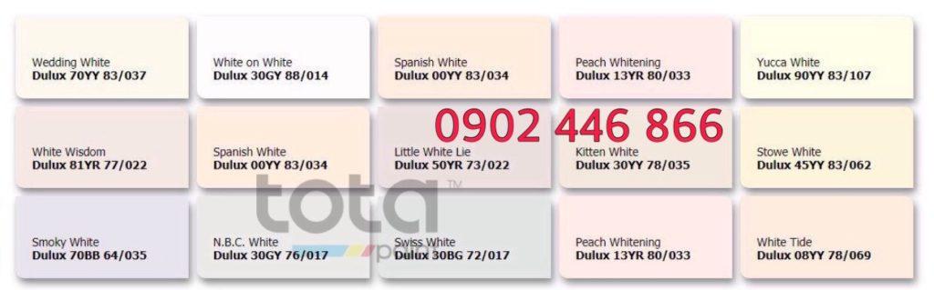 Bảng màu sơn Dulux trong nhà tone trung tính - TotaPaint